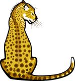 Seduta del leopardo Fotografie Stock