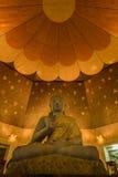 Seduta del meditare Buddha con la vista dell'occhio del ` s della formica Vista di angolo basso Fotografia Stock