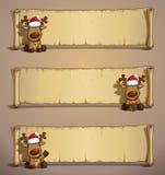Seduta del papiro degli alci di Natale illustrazione di stock