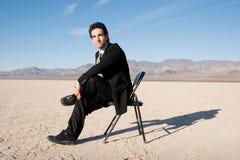 seduta dell'uomo d'affari Fotografie Stock