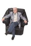Seduta dell'uomo maggiore Immagini Stock Libere da Diritti