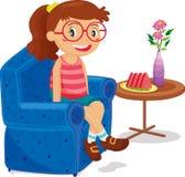 Seduta della ragazza Fotografie Stock