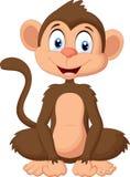 Seduta della scimmia del fumetto Immagine Stock