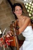 Seduta della sposa fotografia stock