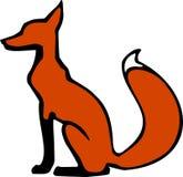 Seduta di Fox rosso Fotografia Stock Libera da Diritti