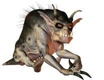 Seduta diabolica della creatura Immagini Stock Libere da Diritti