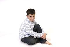 Seduta felice Fotografia Stock Libera da Diritti