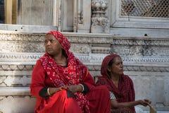 Seduta indiana delle donne immagini stock libere da diritti