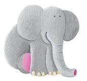 Seduta sveglia dell'elefante Fotografia Stock
