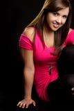Seduta teenager della ragazza Fotografia Stock Libera da Diritti