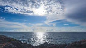 see& x28;sea& x29;对天空 库存照片