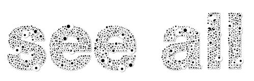 `see all` made of looking eyes. The expression `see all` made of  looking eyes - all on a white background Stock Image