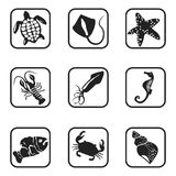 See animals icons on white background. Vector illustration Royalty Free Stock Image