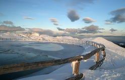 See auf dem Gipfel Stockbild
