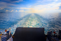 See from back of ferry. In Koh Samui, Thailand Royalty Free Stock Image