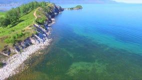 See Baikal Kap Shamanka in Sludyanka-Stadt in Sibirien stock video