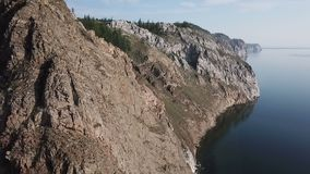 See Baikal Olkhon Insel Luftvermessung E Sonniger Tag stock video footage