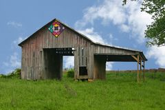 See-Through Barn Stock Image