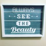 Always See The Beauty. Beauty Art wall picture Royalty Free Stock Image