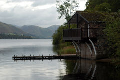 See-Bezirk Boathouse Lizenzfreies Stockbild