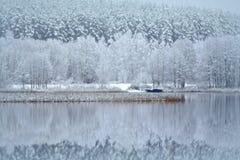 See Bijote, regionaler Park Kurtuvenai Lizenzfreie Stockbilder