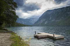 See Bohinj Slowenien Lizenzfreie Stockfotografie