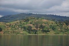 See Bunyoni - Uganda, Afrika stockfotos