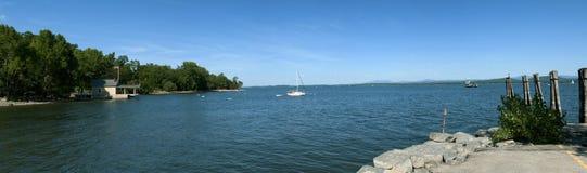 See Champlain, westliches Ufer Stockbild