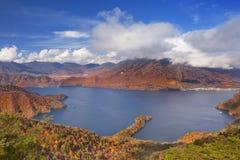 See Chuzenji, Japan im Herbst von oben Stockbild