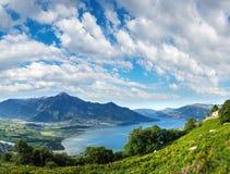 See Como-Sommerpanorama Italien Stockbild