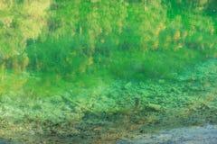 See in den netten grünen Farben des Herbstes lizenzfreies stockfoto