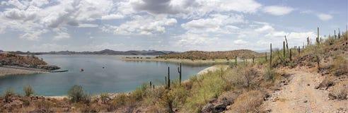 See in der Wüste, Arizona, Amerika Lizenzfreies Stockfoto