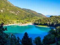 See des Tenno-Italieners: Lago di Tenno in Trentino, Italien lizenzfreies stockfoto
