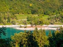 See des Tenno-Italieners: Lago di Tenno in Trentino, Italien lizenzfreie stockbilder