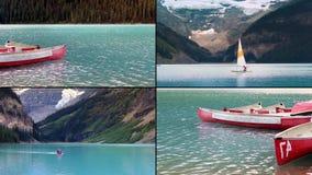 See-Erholungs-Szenen-Montage stock footage