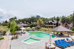 See Front Five Star Villa in Samosir-Insel Lizenzfreies Stockfoto