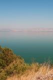 See of Galilee, Israel, Middle East, Lake Tiberias, freshwater, Holy Land, religious, symbolic, biblical place. Lake Tiberias on September 2, 2015. Lake Tiberias Stock Images