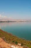 See of Galilee, Israel, Middle East, Lake Tiberias, freshwater, Holy Land, religious, symbolic, biblical place. Lake Tiberias on September 2, 2015. Lake Tiberias Royalty Free Stock Photo