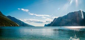 See Garda ist der größte See in Italien Stockfoto
