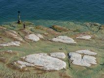 See Garda-Küste Stockfotografie