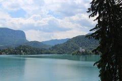 See geblutet in Julian Alps Lizenzfreie Stockbilder