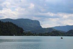 See geblutet in Julian Alps Stockfotos