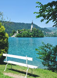 See geblutet, Nationalpark Triglav, Slowenien Lizenzfreies Stockfoto