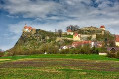 See geblutet, Slowenien Lizenzfreie Stockfotografie