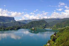 See geblutet, Slowenien Lizenzfreie Stockbilder