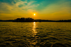 See-George-Sonnenuntergang Stockfoto