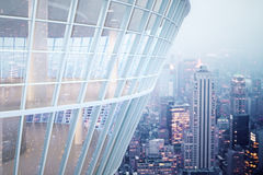 See through glass building Royalty Free Stock Images