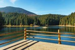 See großer Höhe Synevir am Herbsttag Stockfotos