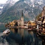 See Hallstatt, Österreich lizenzfreie stockfotos