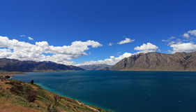 See Hawea, Neuseeland Lizenzfreie Stockbilder